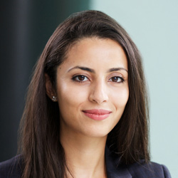 Advent private equity Associate, Zinab Bercheq