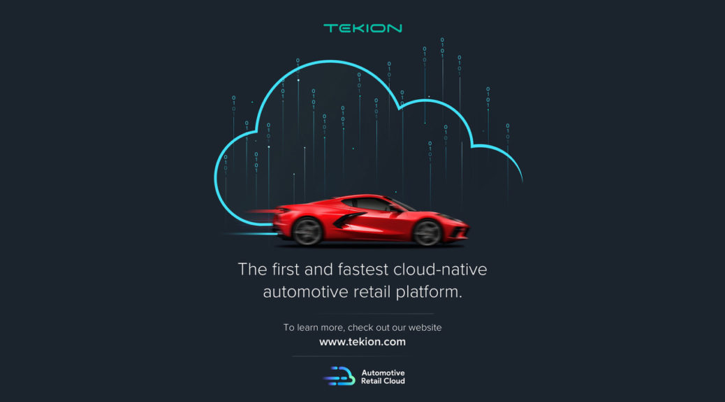 Red car and cloud, representing Tekion - an Advent private equity tech growth investment