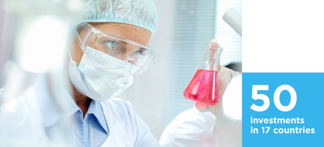 Healthcare professional working in lab